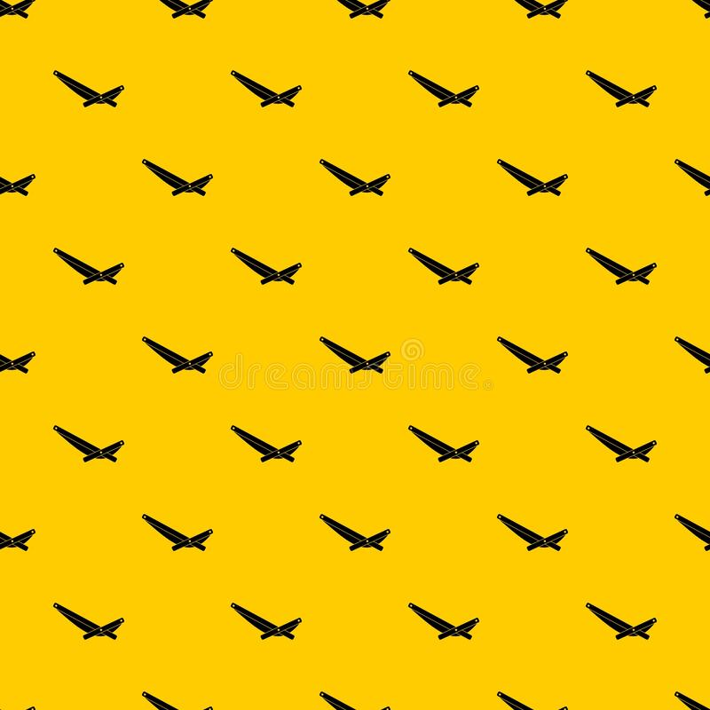 Recliner pattern vector. Recliner pattern seamless vector repeat geometric yellow for any design royalty free illustration