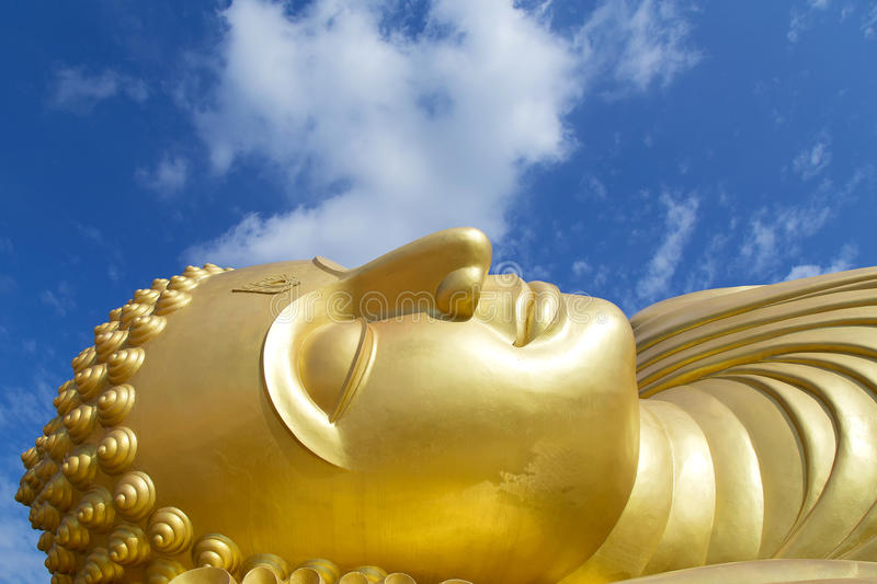 Reclining Buddha. royalty free stock photo