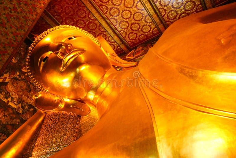 Reclining Buddha statue royalty free stock photo