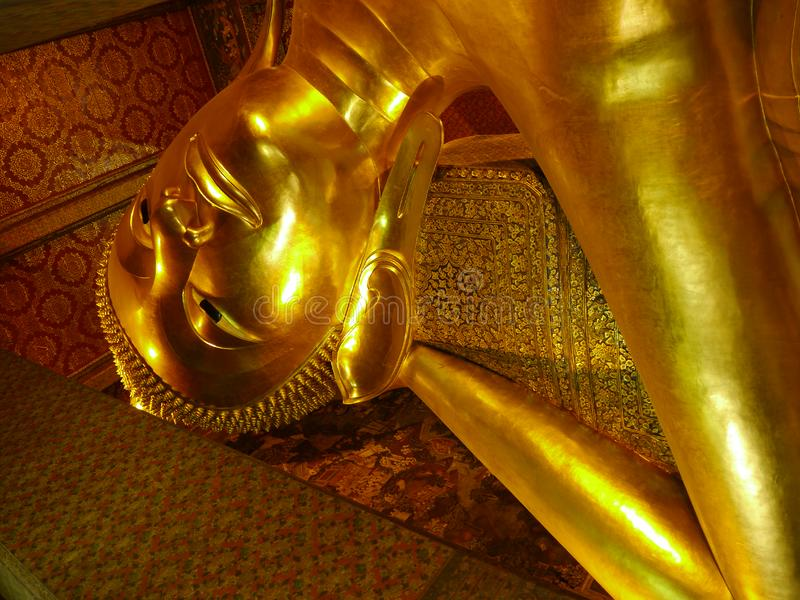 Download Reclining Buddha Statue In Wat Pho Stock Image - Image of historic, architecture: 19240159