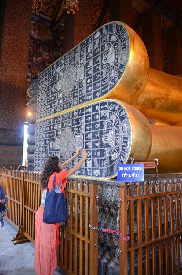 Reclining Buddha at Wat Pho stock photos