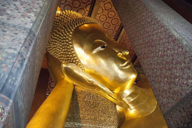 Reclining Buddha Wat Pho royalty free stock images