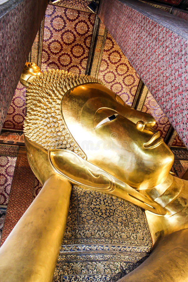 The Reclining Buddha stock images