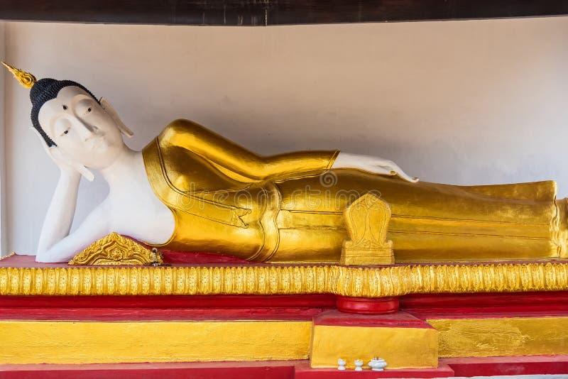 Reclining Buddha, White color, Ayutthaya stock foto's