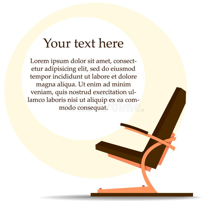 Download Reclining Hair Styling Chair Stock Vector - Image: 26742036