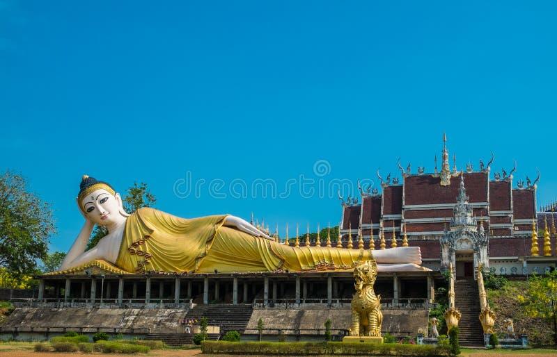 Reclining image of Buddha stock photo