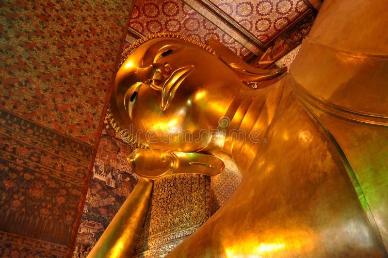 reclining s thailand wat för bangkok buddha pho royaltyfri fotografi