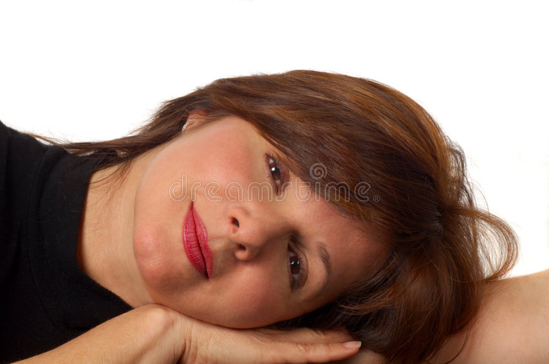 Reclining Woman royalty free stock images