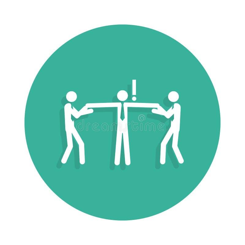 Reclutamiento de reclutamiento del trabajo por el icono de la compañía del empleo en estilo de la insignia ilustración del vector