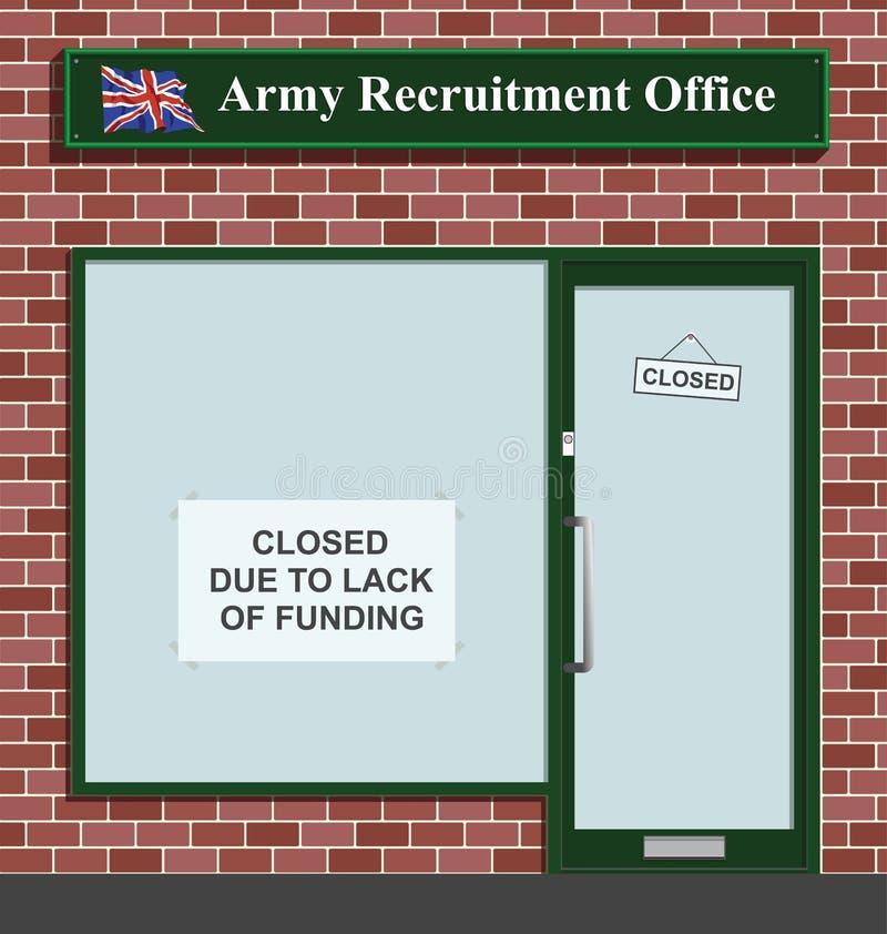 Reclutamiento del ejército stock de ilustración