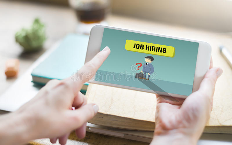 Reclutamiento Job Hiring Comcept del empleo de la carrera imagen de archivo