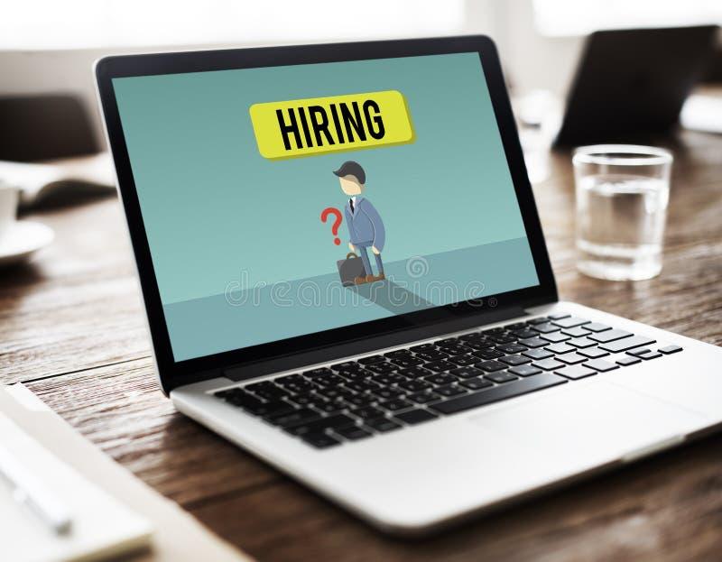Reclutamiento Job Hiring Concept del empleo de la carrera imagen de archivo
