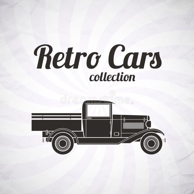 Recogida retra, coche del camión, colección del vintage libre illustration