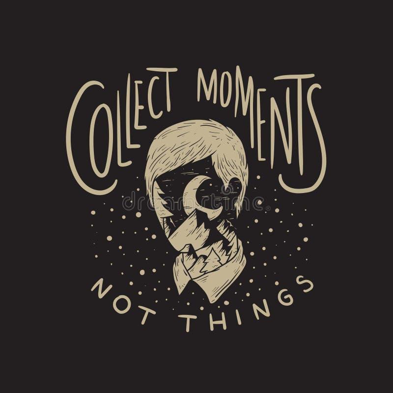 Recoja el concepto de las cosas de los momentos no libre illustration