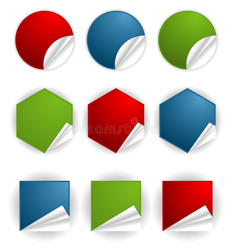 Recoja la etiqueta engomada ilustración del vector