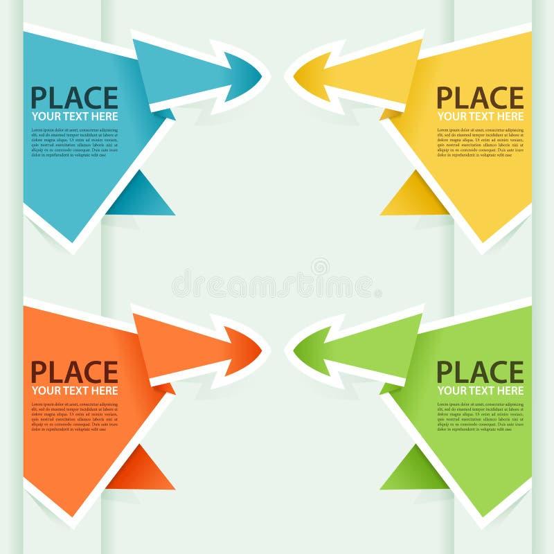 Recoja la flecha de papel de Origami libre illustration
