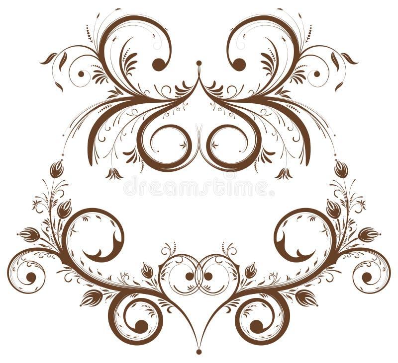 Recoja la frontera de la flor stock de ilustración