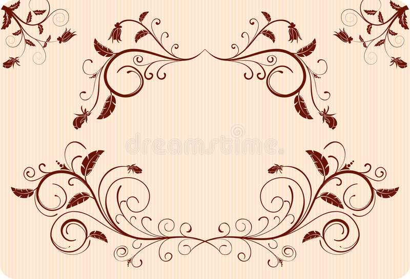 Recoja la frontera de la flor libre illustration
