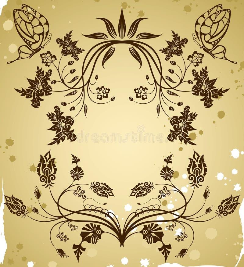 Recoja la frontera de la flor ilustración del vector