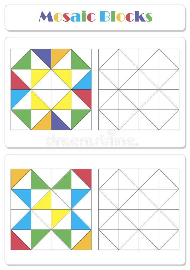 Recoja la secuencia correcta de elementos stock de ilustración
