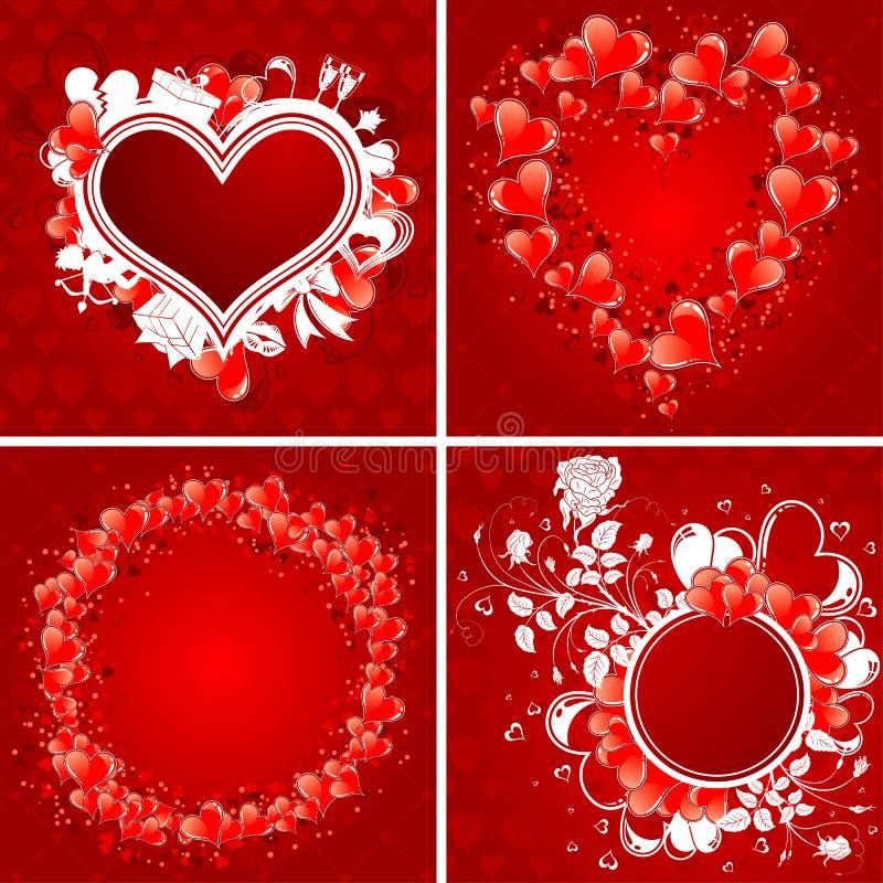 Recoja la tarjeta del día de San Valentín \ \ \ 'cartel del día de s stock de ilustración