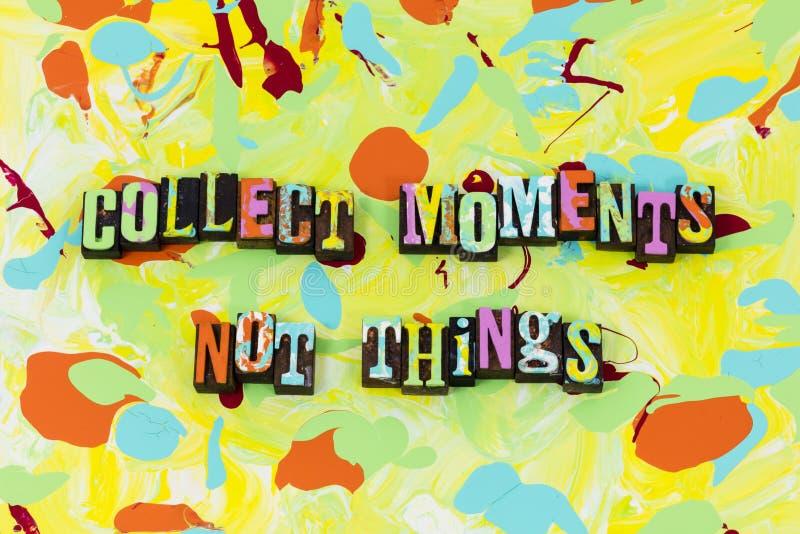 Recoja las cosas hermosas de los momentos no viven hoy vida libre illustration