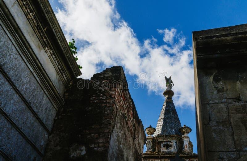 Recolet cmentarz w miastach Buenos Aires Grzebalny miejsce wiele sławni argentyńczycy Niektóre pogrzeby rozpoznają zdjęcie royalty free