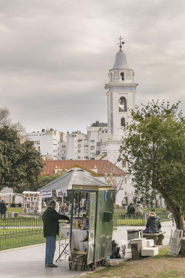 Recoleta公园在布宜诺斯艾利斯阿根廷 库存图片
