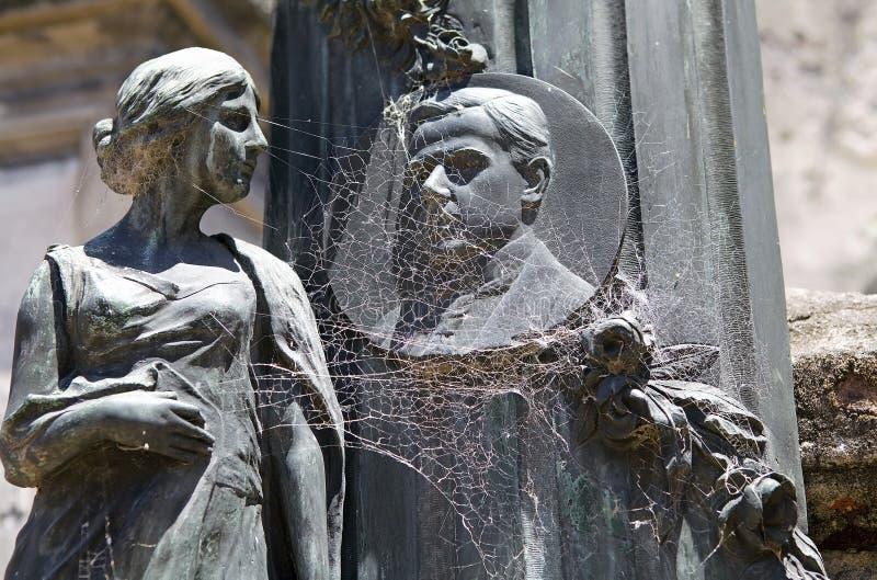 Recoleta公墓在布宜诺斯艾利斯,阿根廷 库存图片