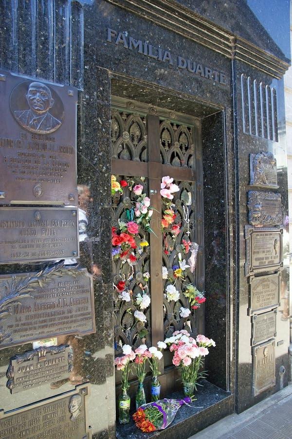 Recoleta公墓在布宜诺斯艾利斯,阿根廷 免版税库存图片