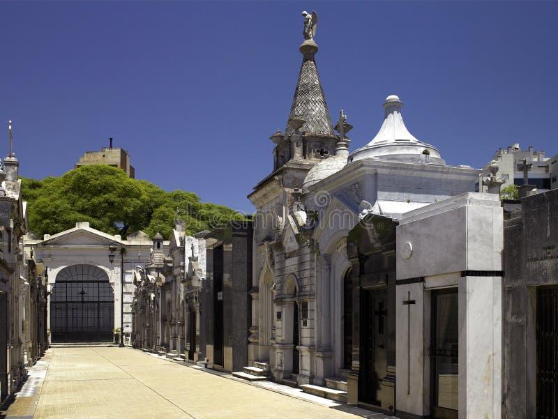 Recoleta公墓在布宜诺斯艾利斯-阿根廷 库存图片
