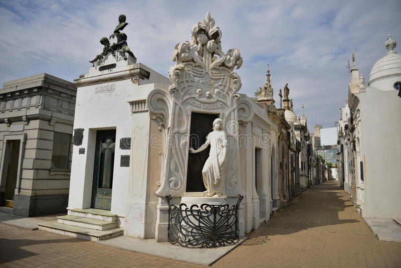 Recoleta公墓在阿根廷 免版税库存照片