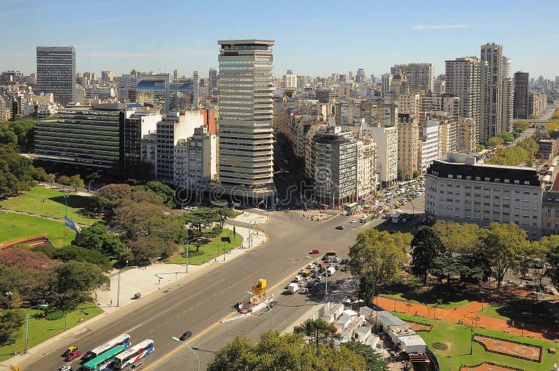 Recoleta地区看法在布宜诺斯艾利斯。 库存照片
