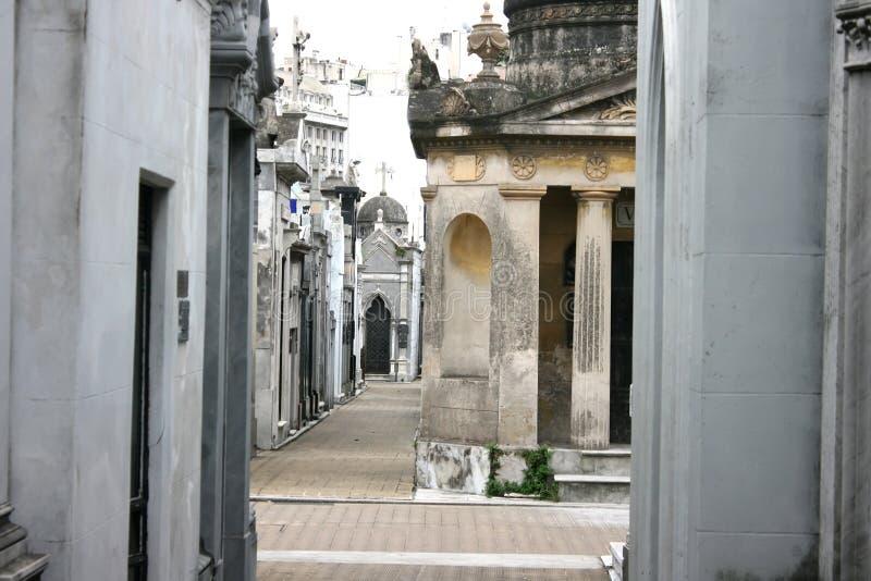 recoleta кладбища стоковые фотографии rf
