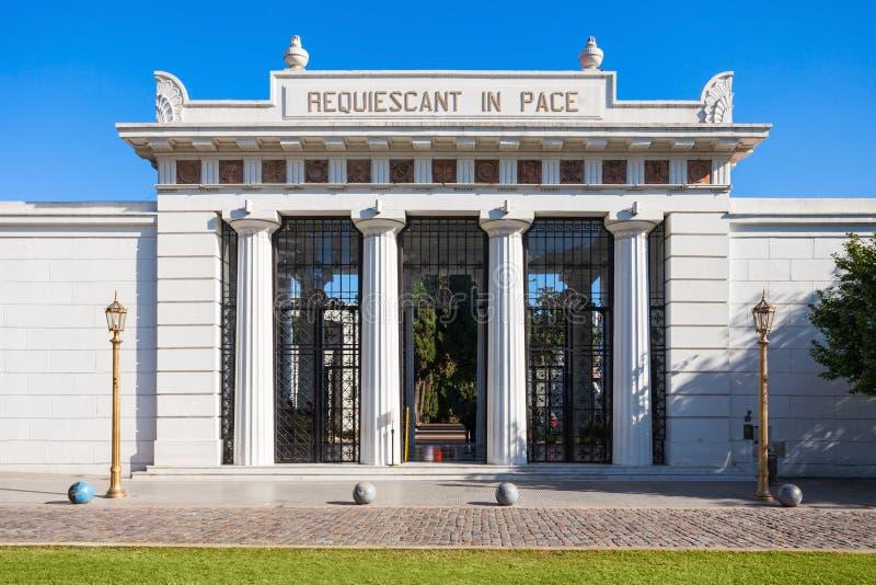Recoleta Cemetery, Buenos Aires. La Recoleta Cemetery (Cementerio de la Recoleta) entrance gate. It is a cemetery located in the Recoleta neighbourhood of Buenos royalty free stock photos