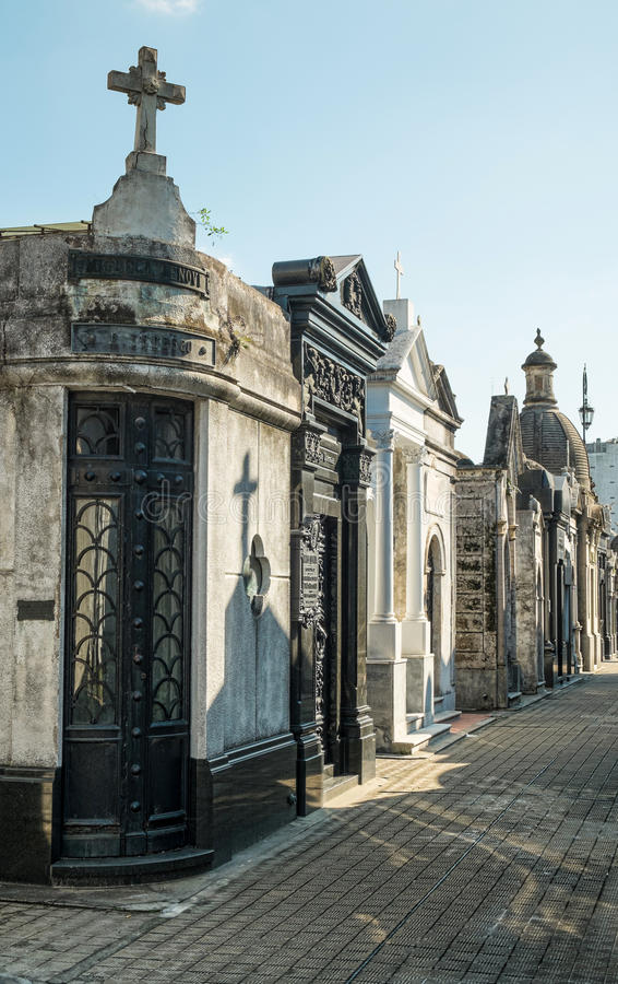 Recoleta cemetry stock photo
