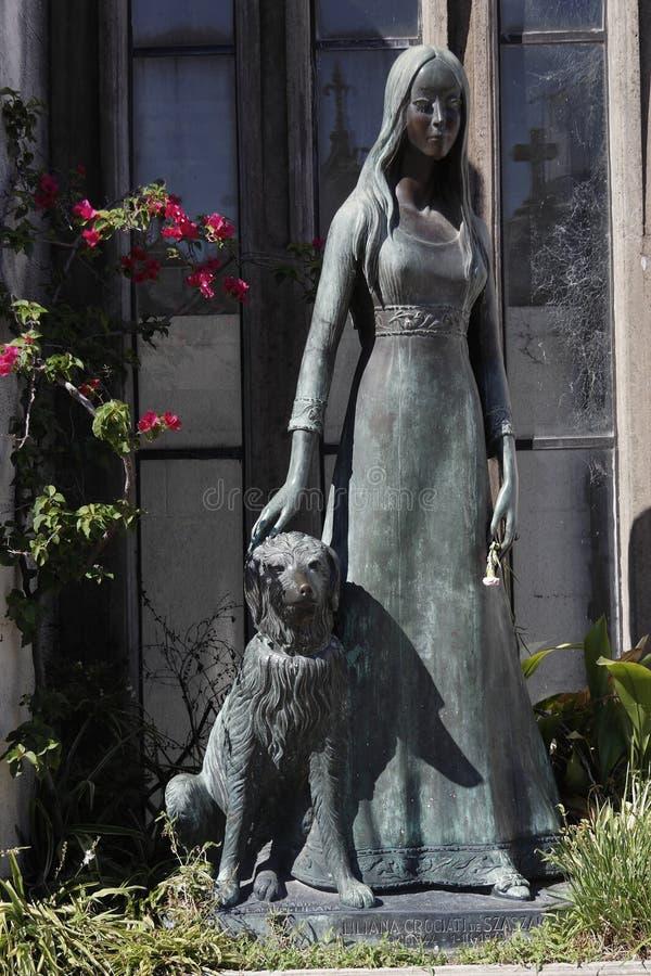 recoleta för airesbuenoskyrkogård arkivbild