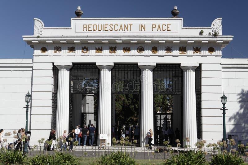 Recoleta Kirchhof - Buenos Aires stockbild