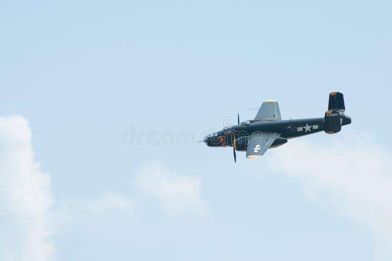 Recolhimento 2014 do campo galão do festival aéreo B-25 de Eagles fotos de stock