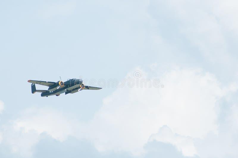 Recolhimento 2014 do campo galão do festival aéreo B-25 de Eagles imagem de stock royalty free