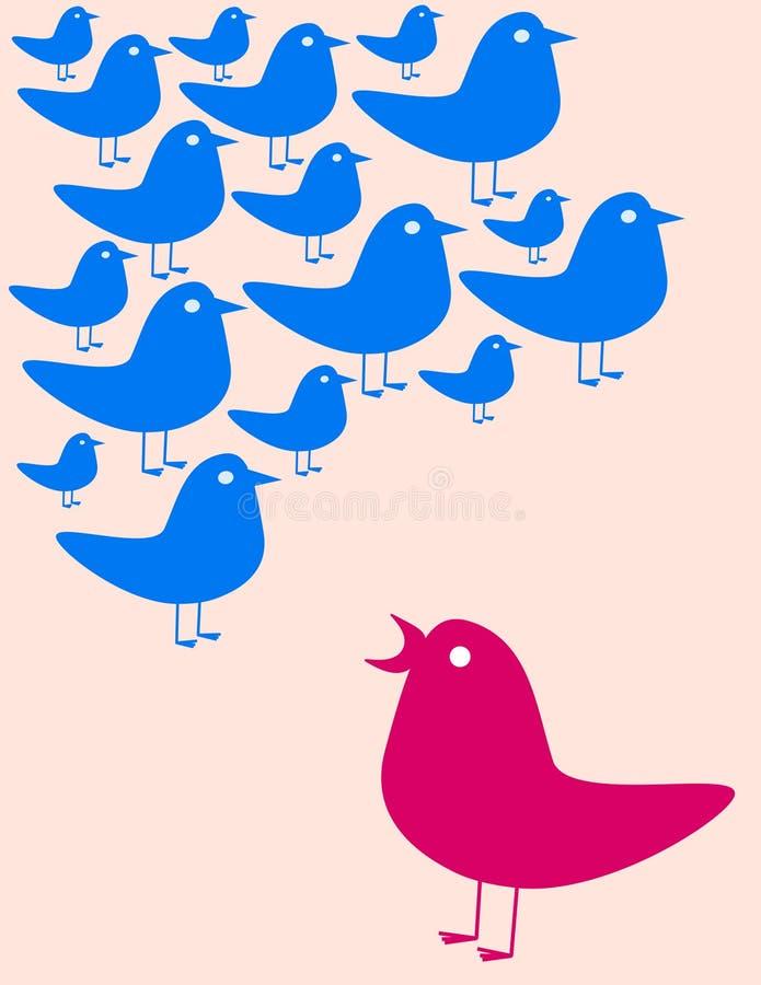 Recolhimento dos pássaros ilustração stock