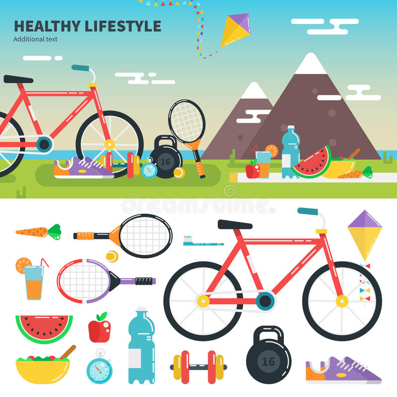 Recomendations for healthy lifestyle royalty free stock image