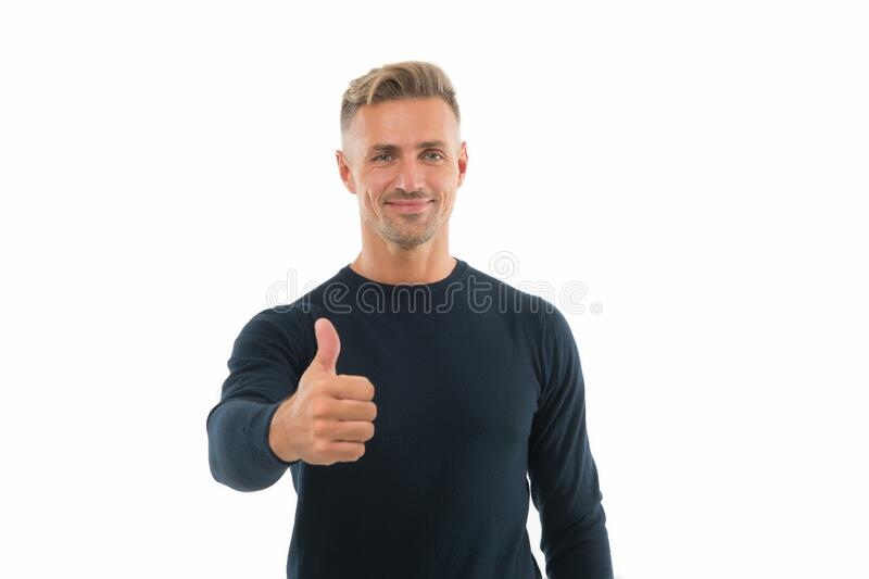 Recommended. Happy promoter give thumbs up hand. Promoting and approving. Promoting product. Promoting and advertising. Promotion. Public relations stock images