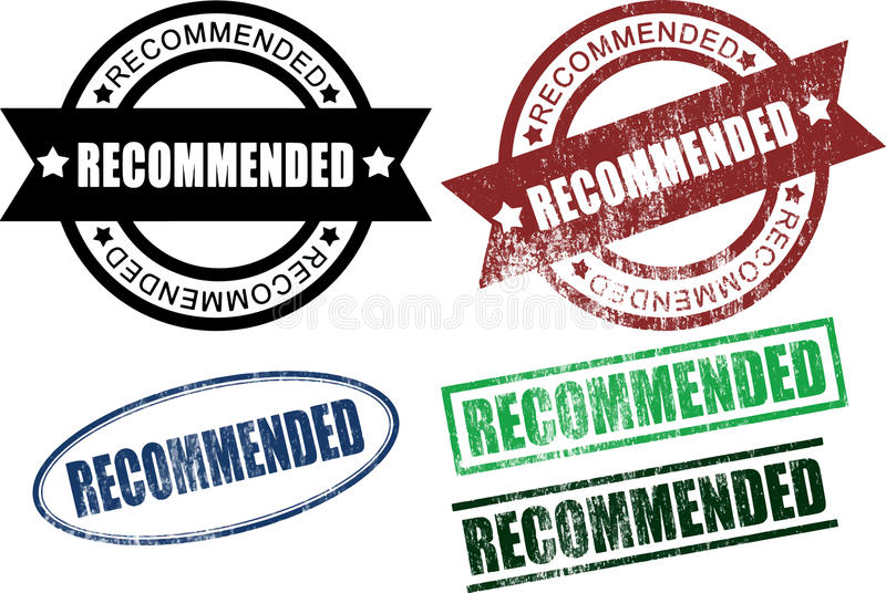 Recommended Rubber Stamps (Vector) stock illustration