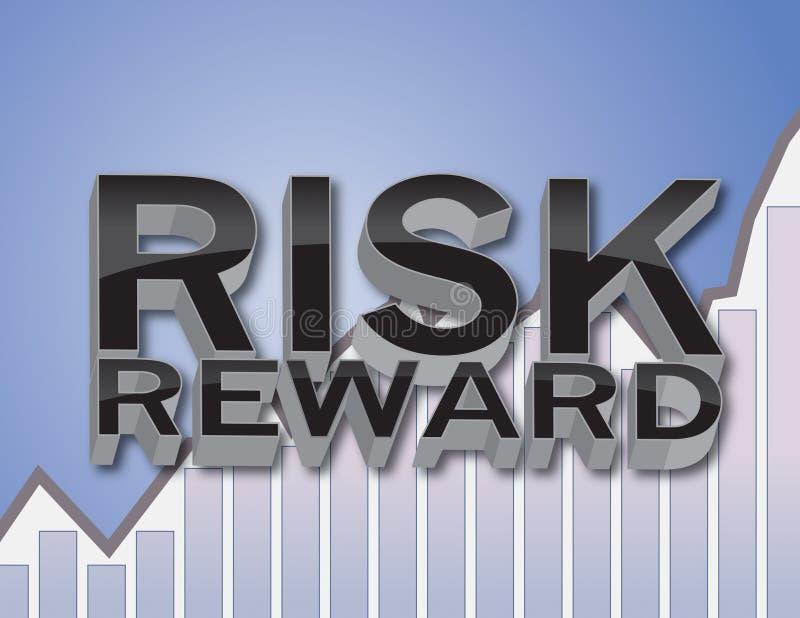 Recompensa do risco ilustração royalty free