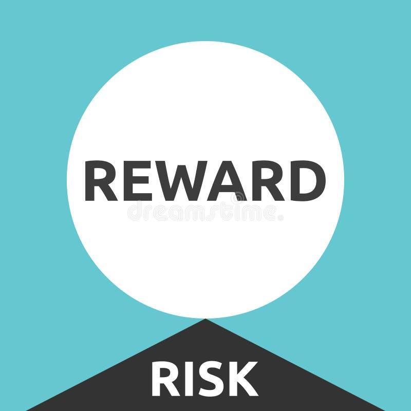 Recompensa grande, risco elevado ilustração royalty free