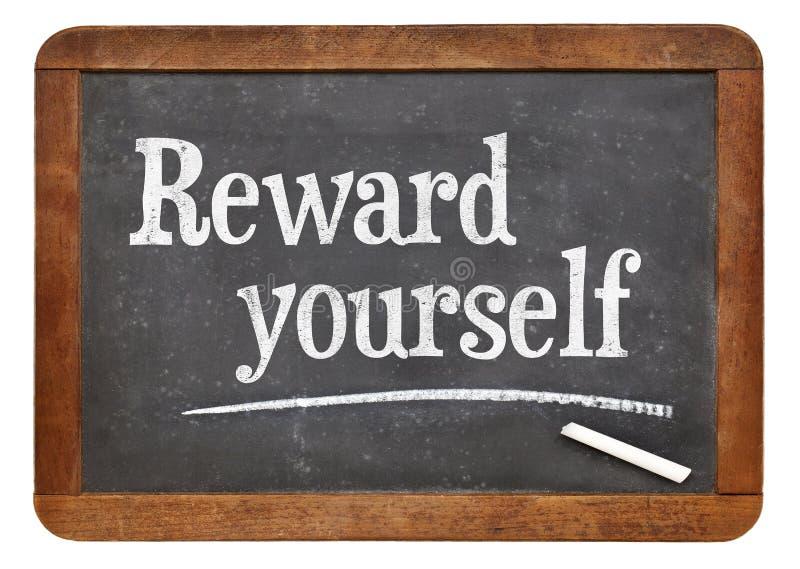 Recompensa usted mismo imagen de archivo