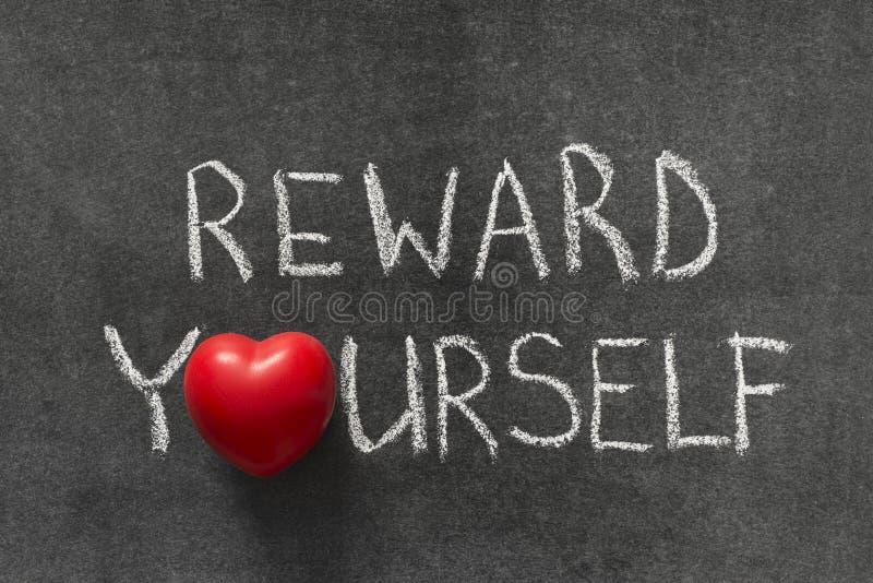 Recompensa usted mismo imagenes de archivo