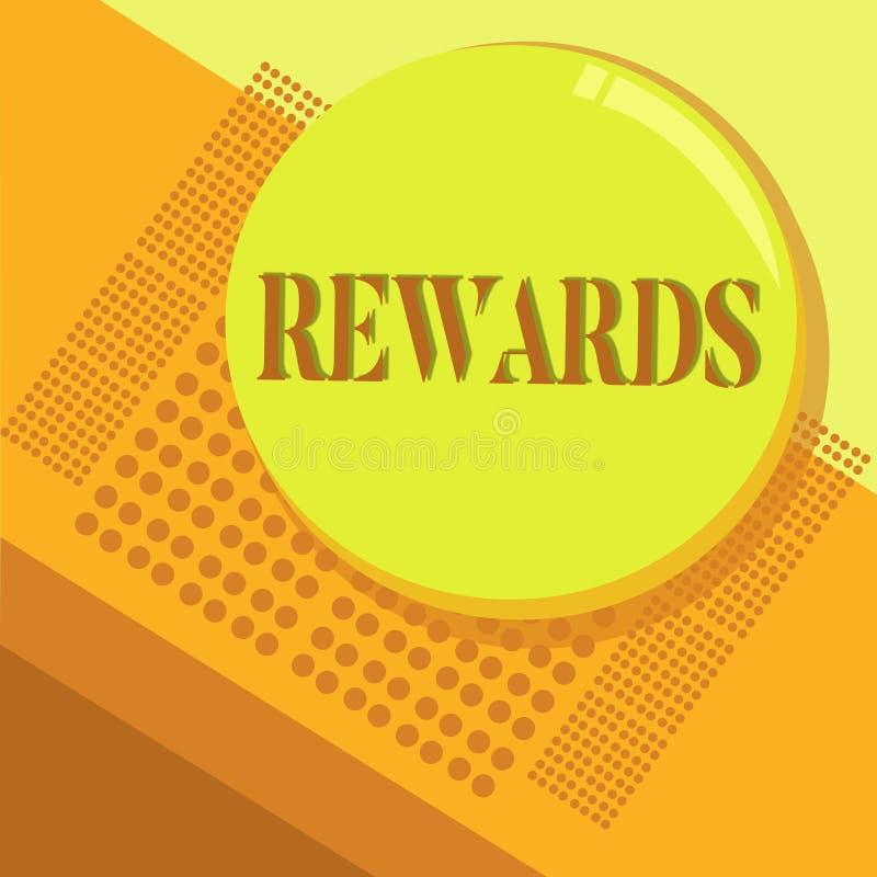 Recompensas del texto de la escritura de la palabra Concepto del negocio para dado en reconocimiento al regalo del premio del log libre illustration
