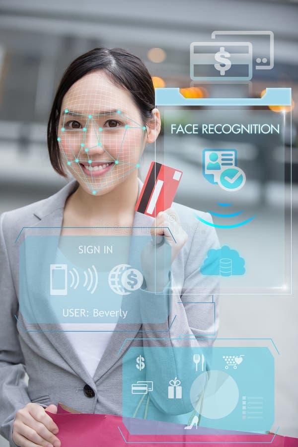 Reconnaissance de massage facial de crédit photo libre de droits